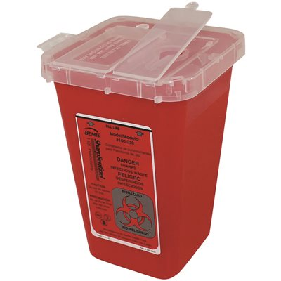 1qt Red Sharps Container each