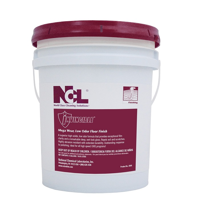 NCL Invincible Mega Wear Low Odor Floor Finish - (5gal)