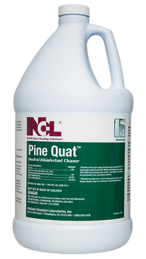 Ncl Pine Quat Disinfectant Cleaner 4gal Cs Four U