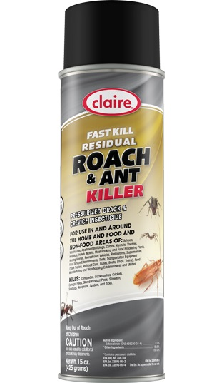 Claire Fast Kill Residual Roach & Ant Killer, 20oz -